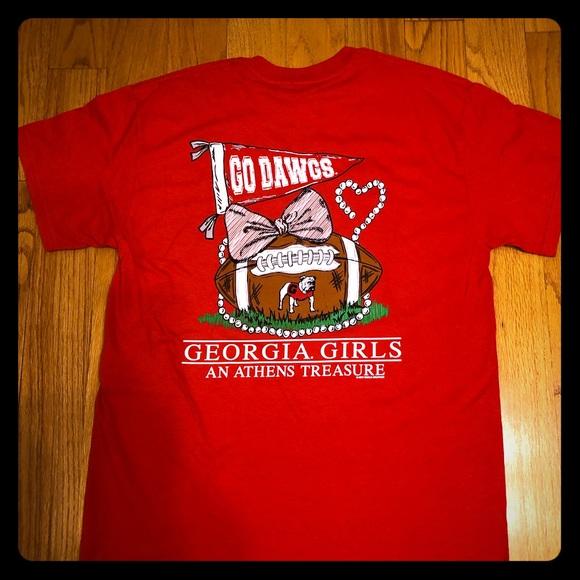 b683c61dbd9d6 Gildan Tops   Uga Georgia Bulldogs Womens Red Tshirt Sz M   Poshmark